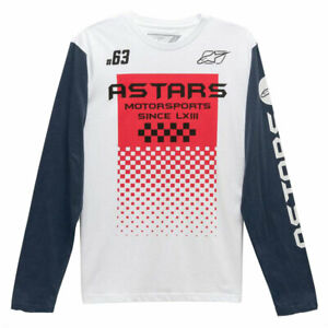 Alpinestars Tachen Long Sleeves Fashionable T-Shirt White / Navy