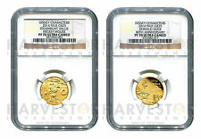 DISNEY - STEAMBOAT WILLIE AND DONALD DUCK - NGC PF70 U-CAM - 1/4 OZ. PROOF GOLD