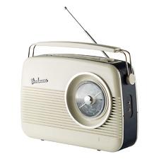 Goodmans Cambridge GTR82DABCRM 1960's Replica DAB+ Portable Radio BLUE/CREAM