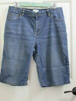 Cato Womens Size 12 Waist 33 Distressed Jean Shorts Stretch 67-19901