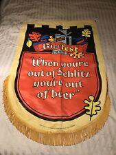 Vintage Schlitz Beer Advertising Banner 32� x 46� Bierfest 1969 Canvas Rare