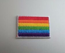 "Mini Gay Pride Rainbow Flag Iron On Patch 1.5"" x 1"" Free Shipping Pride PH148"