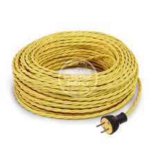Yellow Cordset - Cloth Covered Twisted Rewire Set - Antique Lamp & Fan Cord