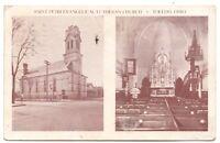 Saint Peter Evangelical Lutheran Church Toledo Oh Interior Vintage Postcard