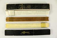 3 Rechenschieber Holz Antik A.W. Faber 55/91 + 1/60 + 52/94