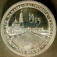 1915 WEST GATE PANAMA CALIFORNIA EXPOSITION SAN DIEGO, EXTRA LARGE ALUMINUM 64MM