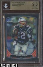 2014 Bowman Chrome Black Refractor Tom Brady New England Patriots /299 BGS 9.5