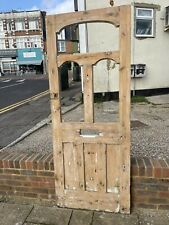 More details for edwardian victorian original antique wooden front door