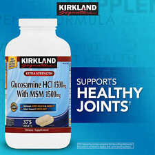 Kirkland 1500 mg Glucosamine with 1500 mg MSM 375 Tablets Joint Health NEW!