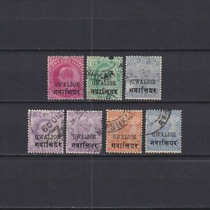 INDIAN CONVENTION STATES, Gwalior, Royal, Politicians, Overprint, Used