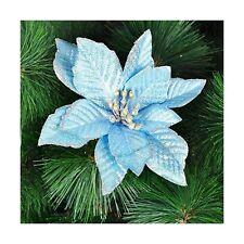 10Pcs Glitter Hollow Wedding Party Decor Christmas Flower Xmas Tree Ornaments HY