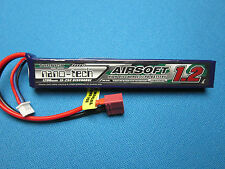 TURNIGY NANO-TECH AIRSOFT LIPO BATTERY 1200mAh 2S 15C 30C DEANS T 7.4V NEW USA