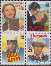 USA 2079-2082 Viererblock (kompl.Ausg.) postfrisch 1990 Klassische Filme