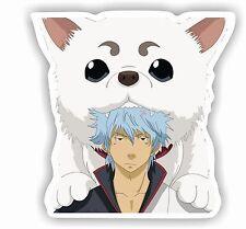 "2x Gintama Anime Die Cut Sticker Decals Size 6""X5"" Laptop Tablet GN002"