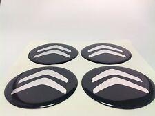 CITROEN Autocollant Sticker Centre de Roue Cache Moyeu Jante Silicone 4 x 60mm