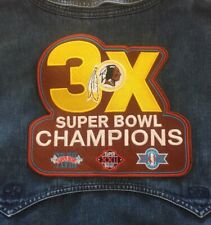 "WASHINGTON REDSKINS PATCH 3X NFL SUPER BOWL CHAMPIONS! SUPERBOWL CHAMPS 6"" X 5"""