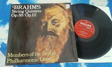 6500 177 - BRAHMS String Quintets Berlin Philharmonic Octet UK PHILIPS RED