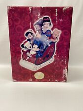 Vintage Disney Christmas Snow White, Mickey, Pooh, Dumbo, On Sleigh Cookie Jar