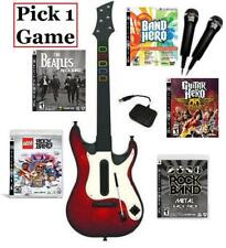 NEW PS3 Guitar Hero 5 Guitar, 2 Microphones & 1 Guitar Hero/Rock Band Game Combo