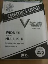08/05/1982 Rugby League Programme: Widnes v Hull Kingston Rovers (the programme