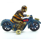 Retro Wind Up Tin I-922 Motorcycle w. Driver Clockwork Toy Collectible Gift