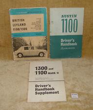 AUSTIN 1100 DRIVERS HANDBOOK + 1300 & 1100 MK2 SUPPLEMENT + NELSON MOTOR MANUAL