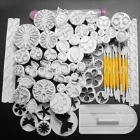 68Pcs Fondant Cake Decorating Sugarcraft Plunger Cutter Tools Mold Mould  CA!