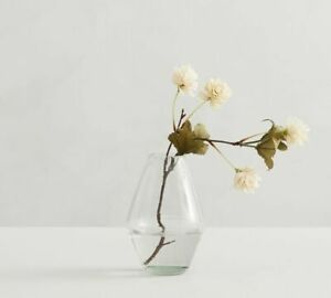"""NEW! Pottery Barn Handcrafted Recycled BUD Glass Vase 6"""" NEW $29.50"""