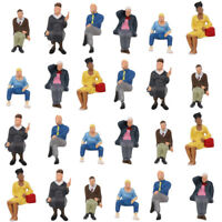 P4803 24pcs All Seated Figure O Scale 1:43 Sitting Painted People Model Railway