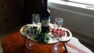 Wooden-wine table folding table-handmade