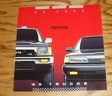 Original 1989 Toyota Car & Truck Full Line Sales Brochure 89 Supra MR2 4Runner