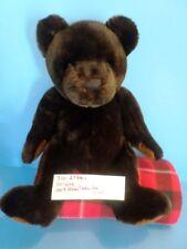 Velvete Dark Brown Teddy Bear Bean Bag Plush (310-2754-1)