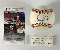 Davey Lopes Signed Baseball Auto Autograph Ball Dodgers Brewers JSA COA