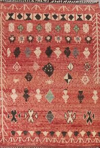 Geometric Moroccan Berber Oriental Area Rug Tribal Hand-knotted Plush Wool 8x11