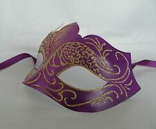 Purple & Gold Venetian Masquerade Party Mask *NEW* Express Post Option