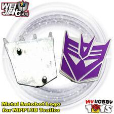 Transformers Accessories -2x Metal Autobot Logo /Symbol  WeiJiang MPP10B Trailer