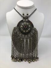 Vintage Bohemian Gypsy Ethnic Festoon Bib Necklace