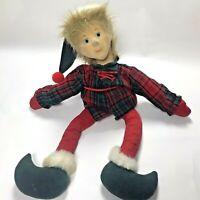 "Vintage Harlequin Perkies Christmas Elf Plush 27"" Shelf-Sitter 1989 Fiesta"