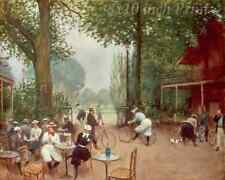 Cyclist Rest and Refreshment by Jean Beraud - Men Women Bicycle 8x10 Print 01937
