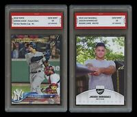 AARON JUDGE TOPPS GOLD CUP & JASSON DOMINGUEZ LEAF 1ST GRADED 10 ROOKIE CARD LOT