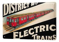 Tin Sign Art Deco electric railways 8X12
