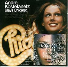 """ANDRE KOSTELANETZ  """" Plays Michel Legrand / Plays Chicago """"  2on1  Vocalion CD"""