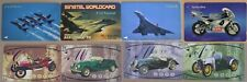 8 x Transportation Phone card: Fighter Commercial Planes, Retro Cars & Motorbike