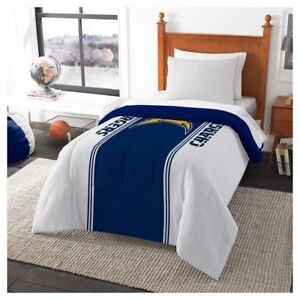 LOS ANGELES CHARGERS Comforter 86 x 64 Microfiber Twin NEW RIVERS FOUTS GORDON