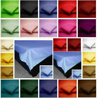 Plain Flat Sheet Luxury Pillow Cases All Sizes Bed Single,Double,King,Super King