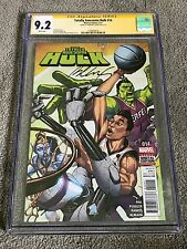 Totally Awesome Hulk 14 Jeremy Lin AUTOGRAPH Bernard Chang SIGNATURE SERIES CGC