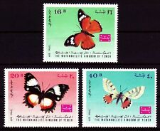 Yemen Kgr 1968 ** Mi.448/50A Schmetterlinge Butterflies