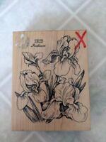 PSX K-040 Iris Flower Bouquet Rubber Stamp Vintage Rubber Stamp 1992