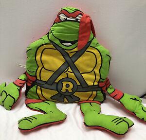 Teenage Mutant Ninja Turtles Raphael Pillow Stuffed Vintage 1990 Mirage TMNT