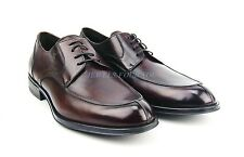 BRUNO MAGLI BURGUNDY HANDMADE SHOES 100% LEATHER LACES ITALY NEW SZ 9 # 60